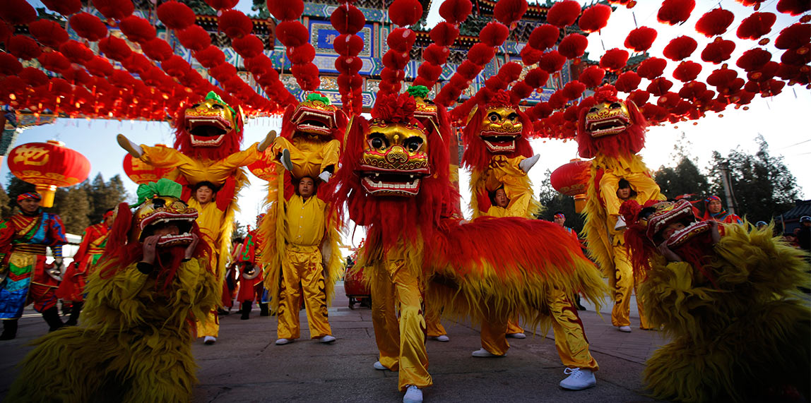 Chinese New Year in Mauritius Dragon Dance