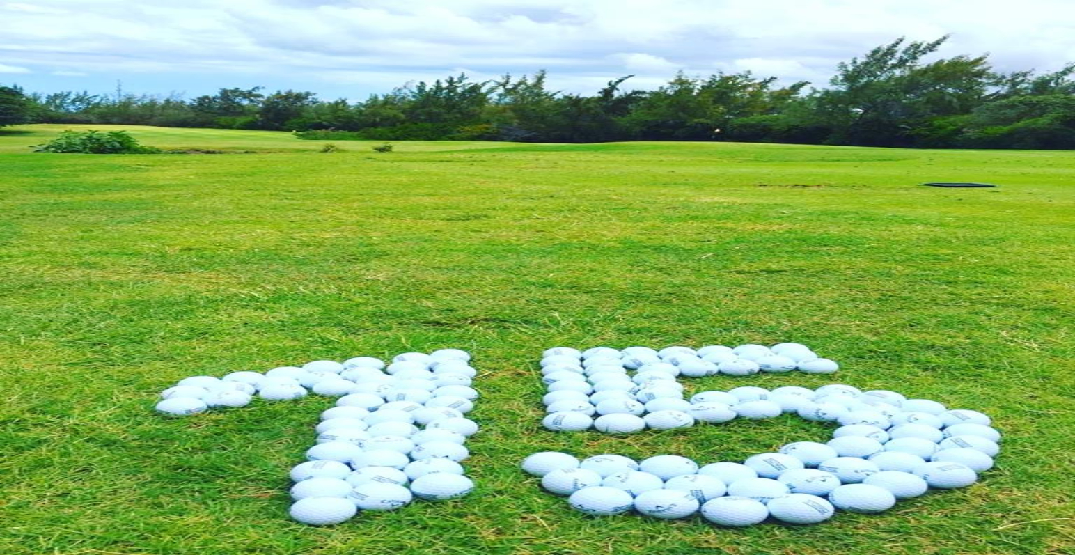 Golf Balls depicting number 15