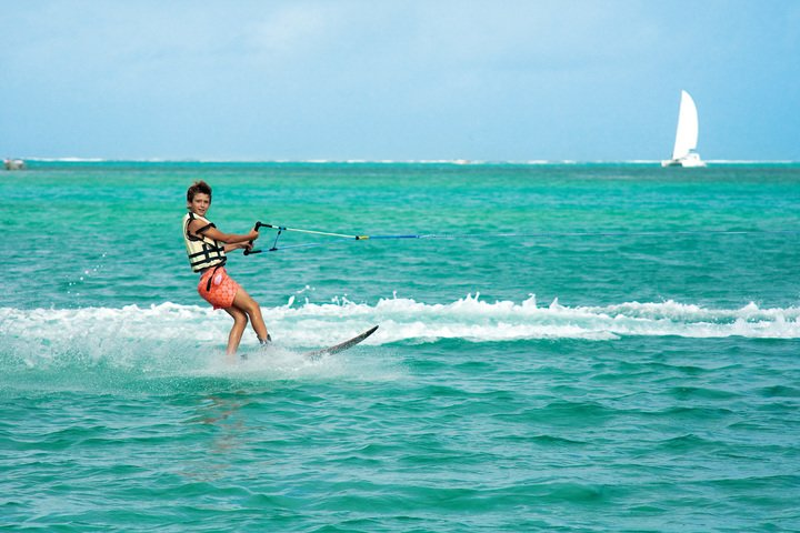 Wakeboarding at Ile aux Cerfs