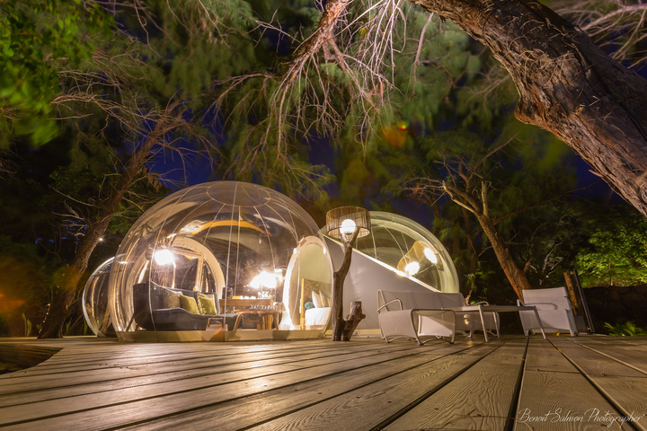Bubble Lodge at Ile aux Cerfs
