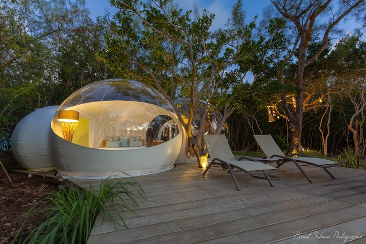 Bubble Lodge Ile aux cerfs island
