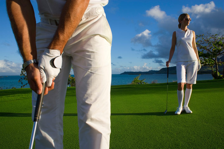 Golf tournament at Ile aux Cerfs