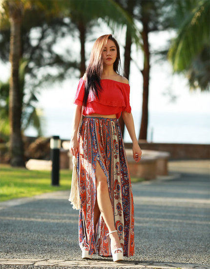 Women Long Skirt Boho Look